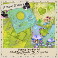 Spring Time Fun Quick Pages Layouts FS CU