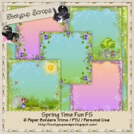 Spring Time Fun Paper Borders Trims FS CU
